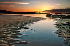 Sunset on the beach (Mark Youlden) Tags: ocean sunset sea sun beach water night bay sand trearddur trearddurbay angleseysunset