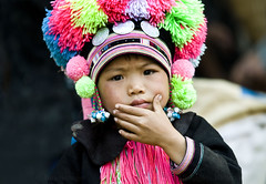 CHINA (BoazImages) Tags: china portrait face hat asian costume asia faces market traditional chinese culture documentary tribal tradition yunnan tribe grab ethnic minority yao ethnicity minorities boazimages blackyao