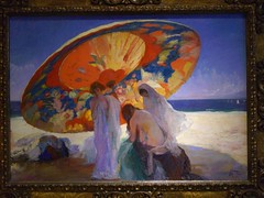 Ombres reflectides (1920), Lluis Masriera, Muse National d'Art Catalan, Barcelone (Yvette Gauthier) Tags: peinture tableau plage barcelone mnac musenationaldartcatalan ombresreflectides lluismasriera