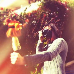 The photographer was caught red-handed!! (buganville) Tags: canon square doll photographer squareformat kenner blythe caught kb redhanded iphoneography instagramapp uploaded:by=instagram