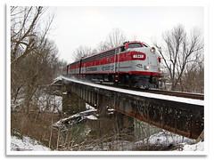 Clear Creek (bogray) Tags: bridge snow creek train ky locomotive shelbyville oldroad fp7 emd clearcreek myoldkentuckydinnertrain funit dieselelectric rjcorman rjc1941