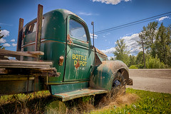 Painting the Chorus (Wayne Stadler Photography) Tags: vehicles bc old truck rust aged rustographer explore work photographer trucks travel britishcolumbia vintage rusty rustography canada antique classic derelict weathered
