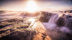 Boiling Over (Augmented Reality Images (Getty Contributor)) Tags: afternoon australia canon landscape leefilters light longexposure nationalpark noosa queensland rocks seaside sunshine water waves