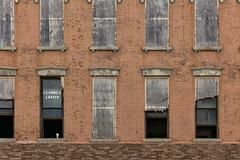 Untitled, Adrian, MI, July, 2016 (Norm Powell (napowell30d)) Tags: travel building brick architecture buildings michigan fineart july architectural adrian minimalist quotidian puremichigan