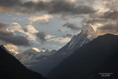 Machapuchare 6993m (The Photography Of Ivan Fodor ) Tags: hiking himalaya fishtail machapuchare annapurnasanctuary sunrise clouds outdoor sky himmel wolke