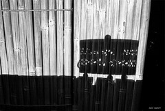night shadows (mare_maris (very slow)) Tags: light shadows black white bw darkness dark shadow decorations decor night balconyscene bamboo blind curtain reed paint decorative design detail exotic fiber handmade line partition pattern rattan stripes wall wicker wooden frame opposites vintage retro contrast        candleholder luce ombra scuro contrasto biancoenero decorazioni lumire ombre sombre contraste noiretblanc dcorations luz sombra oscuro blancoynegro relax mood home romantic lantern outdoor maremaris nikon photography flickr summer 2016 happyaugust paradise