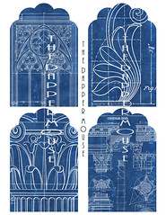 Blueprint Tags 2 Watermark (deniselynch2) Tags: printable gift tags large architecture architectural drawings blueprint commercial use d lynch denise the dapper mouse instant download etsy card making jewelry holder digital design decoupage
