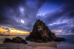 Waiting for the Sunrise (kijimuna.) Tags: sea beach sunrise seascape okinawa canon eos6d clouds morning water yanbaru kunigami            serene