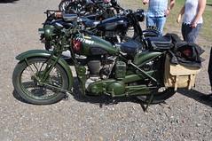BSA M20 (Richard.Crockett 64) Tags: bsa birminghamsmallarms m20 motorbike motorcycle britisharmy militaryvehicle ww2 worldwartwo edwardianpageant shuttleworth oldwarden bedfordshire 2016 airshow