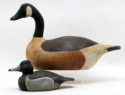 Duck Decoys Carved and Painted by Robert Moreland in the 1980's