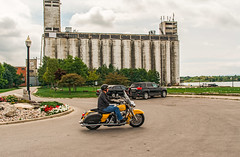 A Harley in Front of Collingwood Terminals and Motorcycle (fotofrysk) Tags: rider motorcycle harleydavidson collingwoodterminalltd terminals silos grainterminals sundaydrive discoveringontario roadtrip canada ontario collingwood nikond7100 1608287251