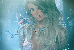 Sammy~Key to Enchanted Dreams... (Skip Staheli (Clientlist closed)) Tags: sammygrey skipstaheli secondlife sl avatar virtualworld dreamy digitalpainting blonde birds enchanting fantasy sparkle twinkle ribbon key