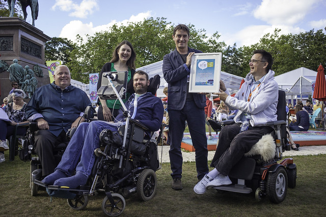 Winners of the Euan's Guide Accessible Festival Best Pop-Up Venue Award