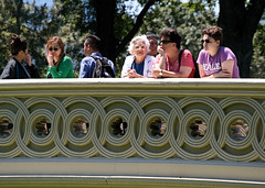 On Bow Bridge (Photographs By Wade) Tags: newyorkcity newyork manhattan centralpark bowbridge tourists mom wife daughter women people