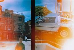 Universal Studios, Osaka (BeefySquarms) Tags: dianamini 35mm diana lomography film photography filmphotography halfframeshots filmisnotdead universalstudios universalstudiosjapan universalstudiososaka osaka japan themepark backtothefuture filmsets youngerbrother