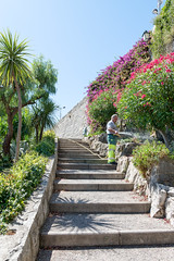 Villefranche-sur-Mer (CocoChantre) Tags: bauwerk passant treppe villefranchesurmer provencealpesctedazur frankreich fr