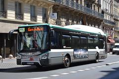 RATP Paris 5963 DY-173-KG (Will Swain) Tags: paris 18th july 2016 bus buses transport travel vehicle vehicles county country europe france french capital city centre parisien ile de ledefrance le nord north ratp 5963 dy173kg