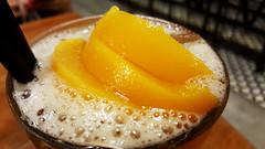 Peach tea (Roving I) Tags: peachtea fruit beverages drinks closeup danangsouvenirsandcafe cafes danang vietnam froth
