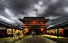 Flashback (JohnNguyen0297 (mostly off)) Tags: tokyo japan asakusa sensoji a6000 ilce6000 stormy rain clouds dark mood atmospheric le longexposure light temple kannon kannontemple people blur shrine asia red johnnguyen0297 johnnguyen sel1018 1018mm skystreaks cloudstreak streaks