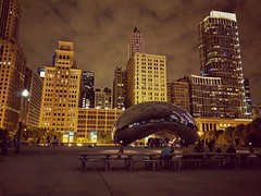 Return (ancientlives) Tags: chicago illinois usa travel summer august 2016 thebean cloudgate millenniumpark michiganavenue evening lights architecture smartphone nexus nexus6p cameraphone