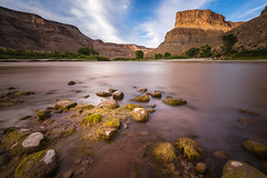 Green River Rocks (ashergrey) Tags: utah green river daily raft rafting water long exposure desert sunset moss