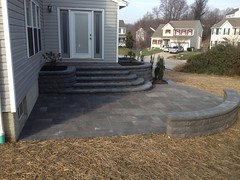 construction (27) (The Sharper Cut Landscapes) Tags: belgardhardscapes backyard landscapedesign landscaping landscapecompany landscapelighting patio pavers plantings seatwall steps retainingwall thesharpercutlandscapes thesharpercut