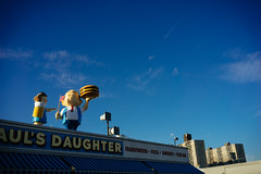 Pauls Daughter (JCatterson) Tags: pauls daughter coney island brooklyn new york nyc blue burger statue