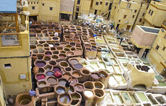 Chouara Tannery, Fes (Kevin.Donegan) Tags: fes fez chouaratannery tannery work workplace morocco maroc africa city architecture colour colourful