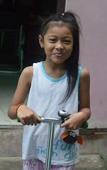 cute girl on a foot scooter (the foreign photographer - ) Tags: aug72016nikon cute girl foot scooter khlong lard phrao portraits bangkhen bangkok thailand nikon d3200
