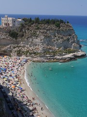 Panorama sur Tropa (nafea) Tags: tropea italy beach spiaggia plage italie calabre calabria