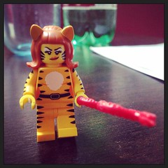 Tiger Woman (Gianluca Ermanno (aka Vygotskij 30.000)) Tags: instagramapp square squareformat iphoneography uploaded:by=instagram amaro lego legominifigures toys giochi giocattoli