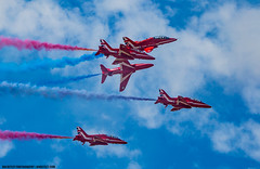 Red Arrows, September 2016 (Ian Betley Photography) Tags: red arrows air show aerobatics smoke white blue sky trail trails display team red1 red2 red3 red4 red5 jet engine england 2016 lancashire uk royal force raf southport 11th september promenade dye