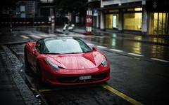 just F! (Toni_V) Tags: l1000505 rangefinder digitalrangefinder messsucher leica leicam m9 noctilux 50mmf095asph f095 nocti dof bokeh ferrari sportscar car auto sportwagen wet rain regen zurich zrich colorefexpro4 niksoftware switzerland schweiz suisse svizzera svizra europe city toniv 2016 160918