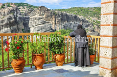 On the balcony of the monastery (Ivanov Andrey) Tags: monastery monk nun temple church chapel christianity religion orthodoxy cross architecture history balcony fence view sky cloud blue mountain hill rock cliff hillside horizon landscape nature old ancient plant vase amphora sun shadow stone travel walk wall meteora greece