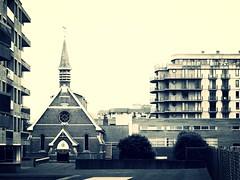 La Panne (BrigitteChanson (mostly off)) Tags: lapanne depanne belgique flandre chapelle btiments noiretblanc blackandwhite belgium belgi