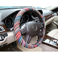 "Automotive Steering Wheel Cover - TKOOFN Ethnic Style Baja Blanket Exotic Look Flax Cloth Wrap Cover Fit for Car Steering Wheel with 38cm/15"" Diameter, Anti Slip & Sweat Absorption (wupplescars) Tags: 38cm15 absorption anti automotive baja blanket cloth cover diameter ethnic exotic flax look slip steering style sweat tkoofn wheel wrap"
