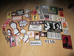 seven logos pack (andres musta) Tags: sticker stickerart seven logos hex bwolfe