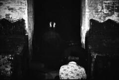Facing the Grave Door (CorneliusSwangga) Tags: blackandwhite bw grave graveyard analog 35mm photography traditional photojournalism documentary belief ritual analogue yogyakarta jogjakarta nikkor nikonf3 mystic filmphotography nikonanalog kejawen