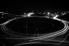Wapda Town Roundabout (viralstile) Tags: longexposure nightphotography pakistan blackandwh
