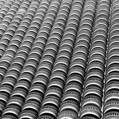 Subtle differences (Arni J.M.) Tags: red bw building architecture geotagged thailand hotel waves bangkok repetition balconies geotag statetower subtledifferences nikond80 satellitedisc bestcapturesaoi