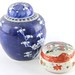 219. 2pc Contemporary Chinese Porcelain