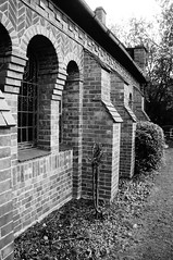 WIndows & buttresses (Jon-UK) Tags: windows bw white black brick church details adoremus adorer adorar  adhradh addoliad