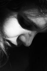 maschera? (Maieutica) Tags: bw selfportrait hair nose ombra bn autoritratto ritratto luce viso ragazza naso capelli volto