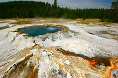 Punch Bowl Spring, Yellowstone National Park, Wyoming (Dr. Doc) Tags: spring hiking bowl yellowstonenationalpark punch wyoming hotpools geysers biscuitbasin geothermalfeatures tamronspaf1024mmlens