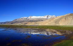 The Beauty (Sandeep Santra) Tags: blue sky india lake reflection landscape photography day bluesky clear leh ladakh highaltitude jammukashmir skyhigh incredibleindia