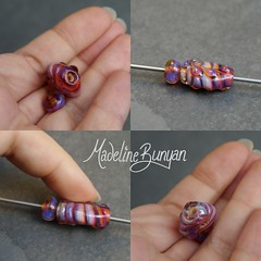 """Small Pink Focal Bead and matching rondelle 2 • <a style=""""font-size:0.8em;"""" href=""""https://www.flickr.com/photos/37516896@N05/8105070244/"""" target=""""_blank"""">View on Flickr</a>"""