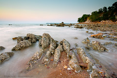 (Louise Denton) Tags: longexposure sunset rocks soft pastel darwin mindilbeach mindil