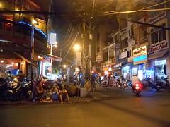 Saigon. Bui Vien street. At night (gilmarcil) Tags: night photography photographie vietnam soir saigon hochiminhcity hcmc hochiminh buivien hcmv hochiminhville