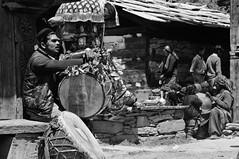 shanti (Perret pierre/ zounix / eye in motion) Tags: street light portrait people bw music mountain black monochrome face festival nikon dof noiretblanc bokeh indian photojournalism nb holy melody shade devotion dxo himalaya hindu himachal regards pdc reportage shakti mela d90 devta najan