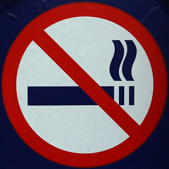 No smoking (Leo Reynolds) Tags: sign canon eos iso100 7d squaredcircle f80 signsafety 37mm signno hpexif 0017sec signnosmoking signcirclebar xleol30x sqset085